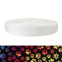 2 Inch Tubular Polyester Rainbow Paws