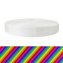 2 Inch Tubular Polyester Rainbow Stripe