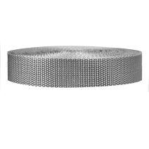 1 Inch Heavyweight Polypropylene Silver Gray
